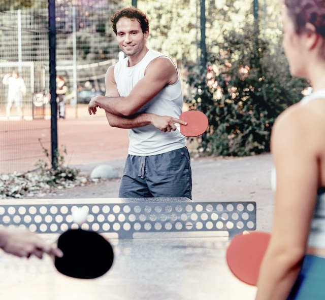 Tischtennis in der Stadt