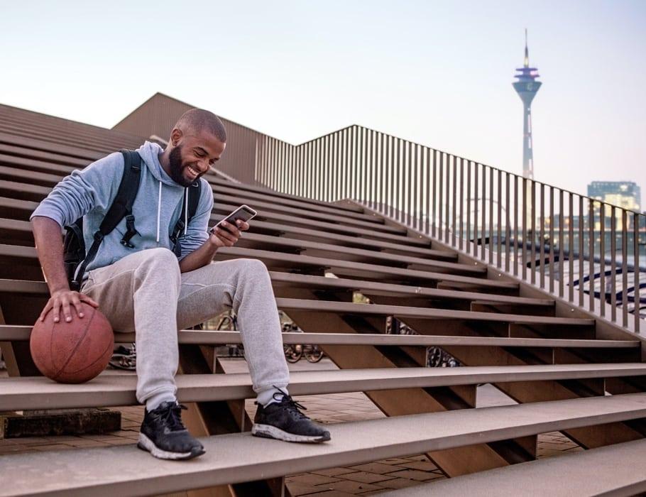 Basketballer_Skyline_Düsseldorf