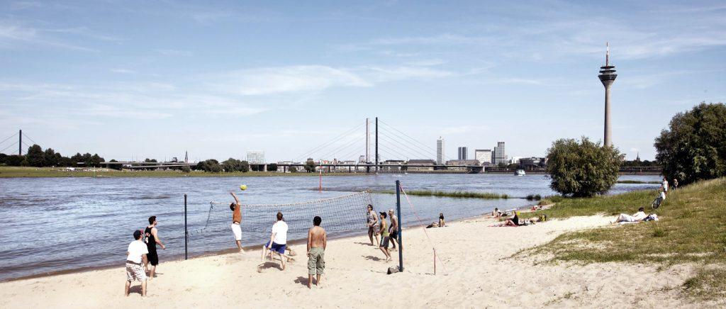 Beachvolleyball in Düsseldorf