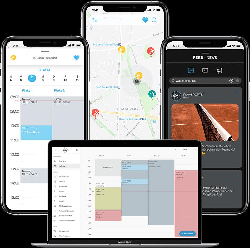 PLAYSPORTS - Das kostenlose Tennis Buchungssytem in einer App