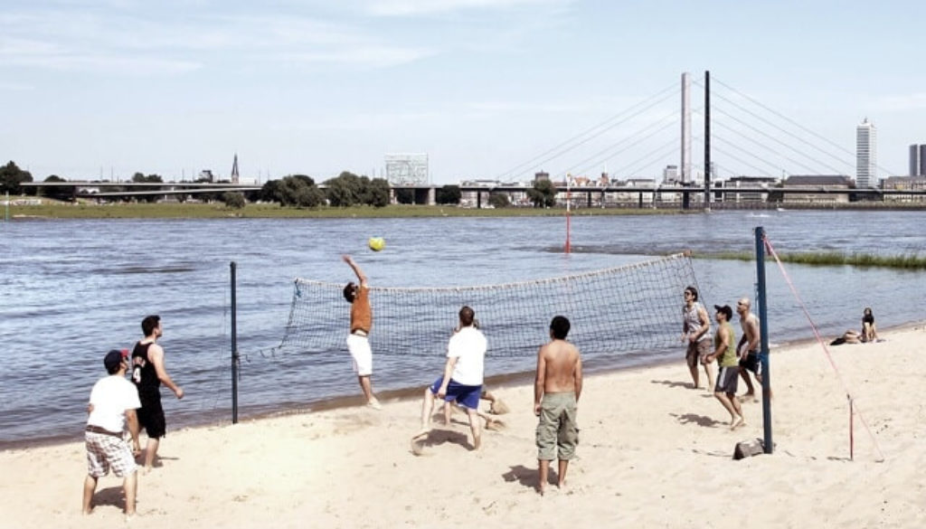Beachvolleyball in Düsseldorf